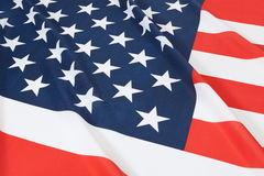 Studio shot of ruffled national flag - United States Royalty Free Stock Images