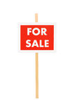 Studio shot of a for sale sign Stock Photo