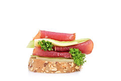 A studio shot of a sandwich Royalty Free Stock Photography