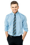 Studio shot of smart corporate male model Stock Photo