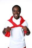 Studio shot of a smiling african man Stock Photos
