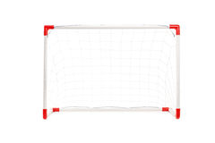 Studio shot of a soccer goal Royalty Free Stock Images