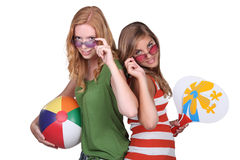 Studio shot of teenage girls Royalty Free Stock Image