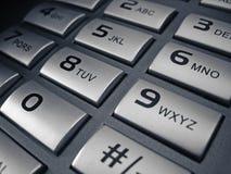 Telephone keypad. Studio shot of telephone number Stock Images