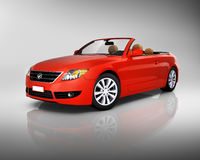 Studio Shot of Three-Dimensional Red Convertible Royalty Free Stock Images