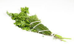 Studio Shot of Traditional Bouquet Garni On White Stock Photo