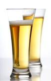 Studio shot of two beers Stock Photos