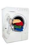 A studio shot of a washing machine Stock Photo