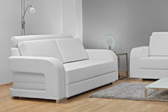 Studio shot of white furniture Royalty Free Stock Images