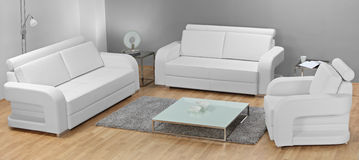 Studio shot of white furniture Royalty Free Stock Photo