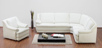 Studio shot of a white furniture Royalty Free Stock Images