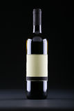 Studio shot of wine bottle with blank etiquette Stock Photography