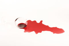 Studio shot of wine stain Royalty Free Stock Photography