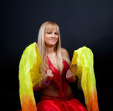 Studio shot of woman in circus royalty free stock photos