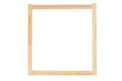 A studio shot of a wooden frame Royalty Free Stock Photos