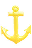 A studio shot of a yellow anchor stock image