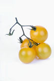 Studio shot of yellow cherry tomatoes Royalty Free Stock Image