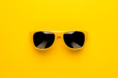 Studio shot of yellow sunglasses Stock Image