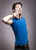 Funny Young Man royalty free stock images