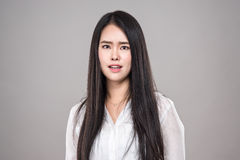 Studio shot of young asian woman portrait - isolated Stock Photos