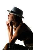 Studio shot of young beautiful woman Stock Image