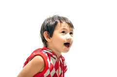 Studio shot of a surprised young boy Royalty Free Stock Photography