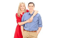 Studio shot of a young couple posing together Stock Image