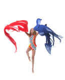 Studio shot of young graceful rhythmic gymnast Stock Images