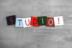 Studio, sign series for music, art, dance and recording studios. Studio, for music, art, dance and recording studios royalty free stock photography