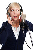 Studio singer Royalty Free Stock Images