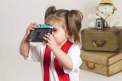 Studio slaes girl Royalty Free Stock Photography