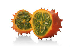 Studio soht of kiwano on white background Stock Photography