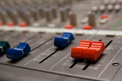 Studio sound mixer details Royalty Free Stock Photos