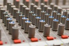 Studio sound mixer details Royalty Free Stock Photo