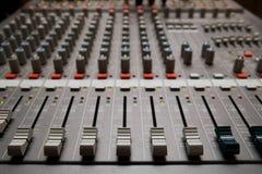 Studio sound mixer details Stock Photography