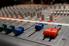 Studio sound mixer details Stock Images