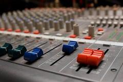 Studio sound mixer details Stock Images