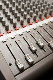 Studio sound mixer details Stock Photo