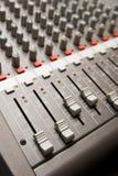 Studio sound mixer details Stock Photo
