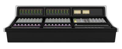 Studio sound mixer isolated on white Stock Photo