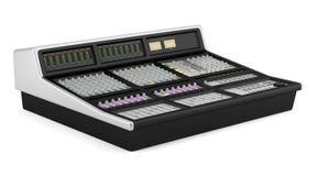 Studio sound mixer isolated on white Stock Photography