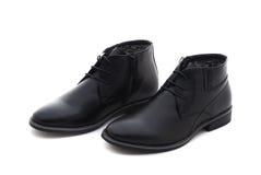 Studio sparato delle scarpe degli uomini classici di paia Isolato Fotografia Stock Libera da Diritti