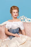 Studio sparato nello stile di Marie Antoinette immagine stock