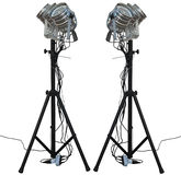 Studio spotlight lighting equipment isolated on white Royalty Free Stock Images