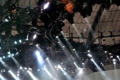 Studio spotlights. Stock Photo