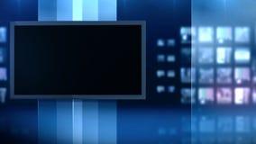 Studio streift Schirm stock video footage