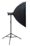 Studio strobe with softbox Royalty Free Stock Photos