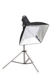 Studio strobe with softbox Royalty Free Stock Images