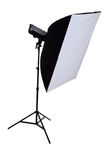 Studio strobe with softbox Royalty Free Stock Image