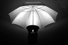 Studio Strobe with Umbrella for Portraits Royalty Free Stock Photos